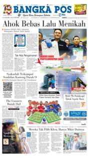 Cover Bangka Pos 19 Januari 2019