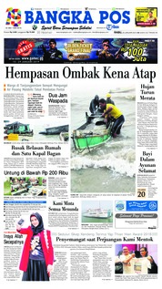 Cover Bangka Pos 23 Januari 2019