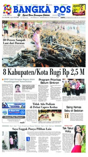 Bangka Pos Cover 16 February 2019
