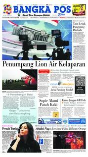 Cover Bangka Pos 17 Februari 2019