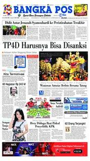 Cover Bangka Pos 19 Februari 2019
