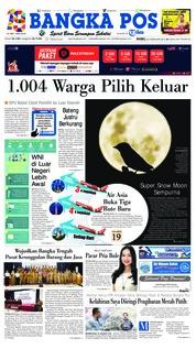 Cover Bangka Pos 20 Februari 2019