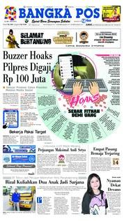 Cover Bangka Pos 22 Februari 2019
