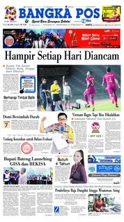 Bangka Pos Cover 24 February 2019