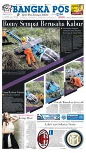 Cover Bangka Pos 17 Maret 2019