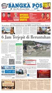 Cover Bangka Pos 18 Maret 2019