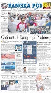 Cover Bangka Pos 19 Maret 2019