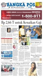 Cover Bangka Pos 21 Maret 2019