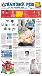 Cover Bangka Pos 22 Maret 2019