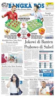 Cover Bangka Pos 24 Maret 2019
