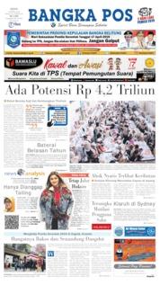 Bangka Pos Cover 15 April 2019