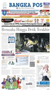 Bangka Pos Cover 16 April 2019