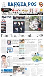 Bangka Pos Cover 17 April 2019