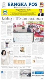 Bangka Pos Cover 18 April 2019