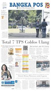 Cover Bangka Pos 23 April 2019