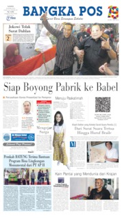 Bangka Pos Cover 25 April 2019