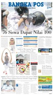 Bangka Pos Cover 14 May 2019