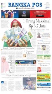 Bangka Pos Cover 16 May 2019