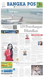 Bangka Pos Cover 17 May 2019