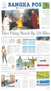Bangka Pos Cover 18 May 2019