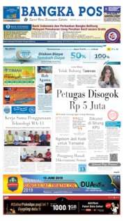 Bangka Pos Cover 20 May 2019