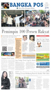 Bangka Pos Cover 22 May 2019