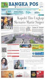 Bangka Pos Cover 23 May 2019