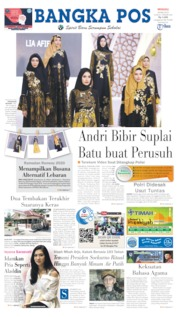Bangka Pos Cover 26 May 2019