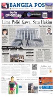 Cover Bangka Pos 14 Juni 2019