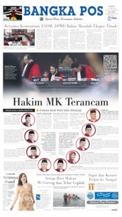 Cover Bangka Pos 15 Juni 2019