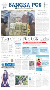 Cover Bangka Pos 12 Juli 2019