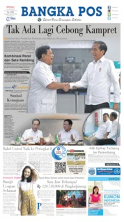Bangka Pos Cover 14 July 2019