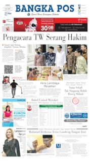 Bangka Pos Cover 19 July 2019
