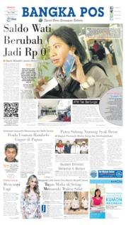Cover Bangka Pos 21 Juli 2019