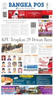 Cover Bangka Pos 13 Agustus 2019