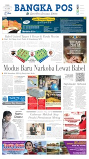 Cover Bangka Pos 14 Agustus 2019