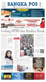 Cover Bangka Pos 20 Agustus 2019