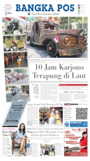 Bangka Pos Cover 25 August 2019