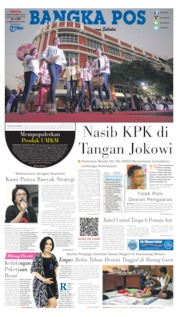 Cover Bangka Pos 08 September 2019