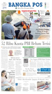 Cover Bangka Pos 11 September 2019