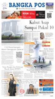 Cover Bangka Pos 16 September 2019
