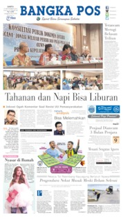 Cover Bangka Pos 21 September 2019