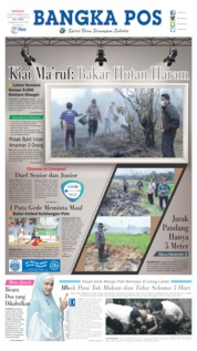 Bangka Pos Cover 22 September 2019