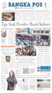 Bangka Pos Cover 09 October 2019