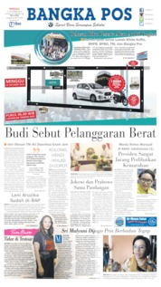 Bangka Pos Cover 13 October 2019