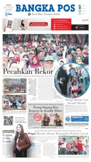 Bangka Pos Cover 14 October 2019