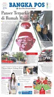 Cover Bangka Pos 20 Oktober 2019