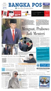 Cover Bangka Pos 21 Oktober 2019