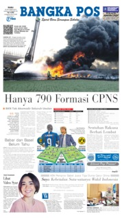 Bangka Pos Cover 23 October 2019