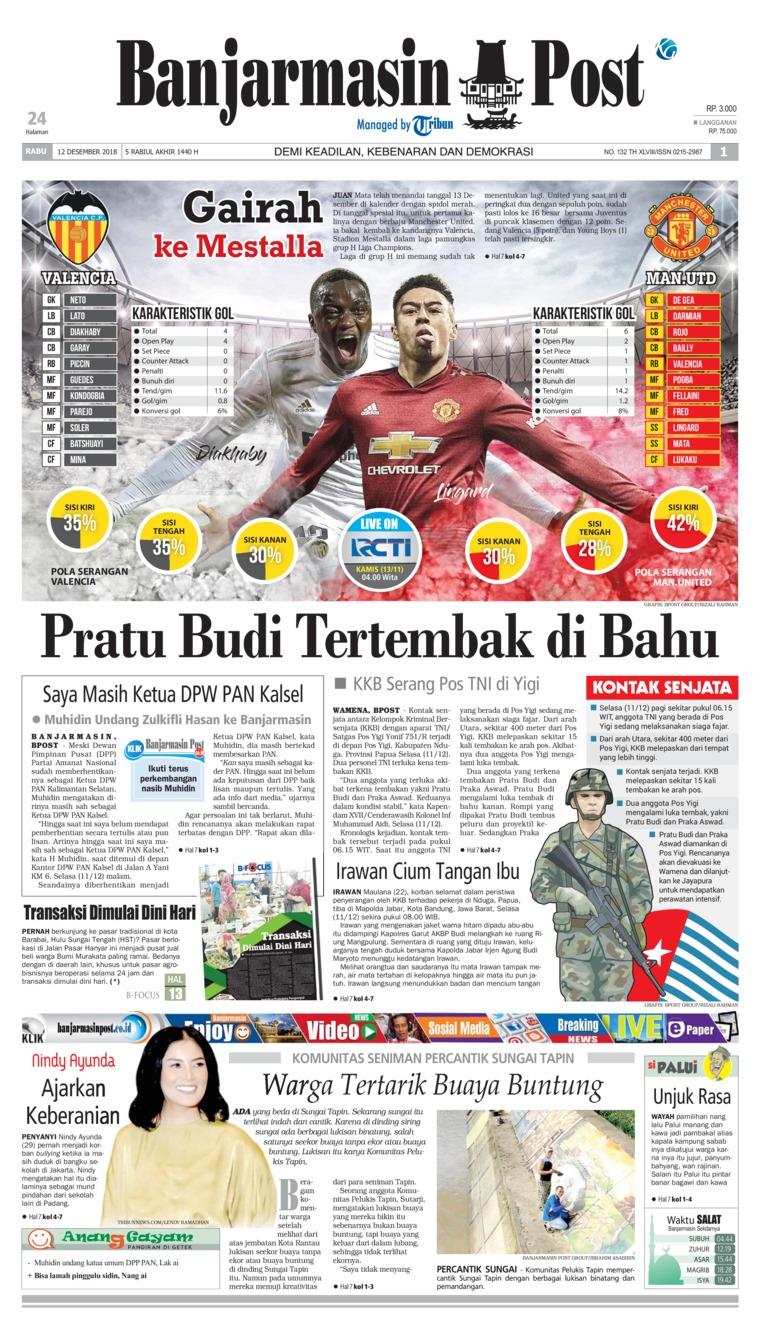 Banjarmasin Post Digital Newspaper 12 December 2018